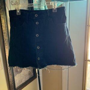 Lucky Brand High-waist Black Jean Skirt Sz L